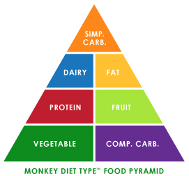 Monkey Diet Type Food Pyramid
